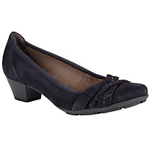 Buy Gabor Tyne Block Heel Court Shoes, Black Online at johnlewis.com