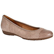 Buy Gabor Hustle Nubuck Ballerina Pumps, Nude Online at johnlewis.com