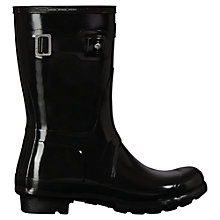 Buy Hunter Original Short Wellington Boots, Gloss Black Online at johnlewis.com