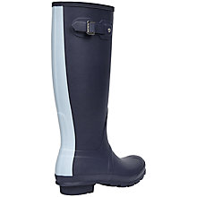Buy Hunter Original Stripe Wellington Boots, Midnight Blue Online at johnlewis.com