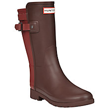 Buy Hunter Original Back Strap Wellington Boots, Lava Red Online at johnlewis.com