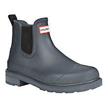 Buy Hunter Pull Tab Lightweight Ankle Boots, Chelsea Grey Online at johnlewis.com