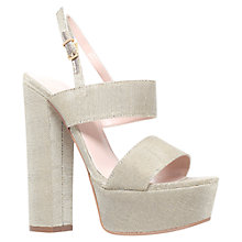 Buy Carvela Glamorous Platform Sandals, Gold Online at johnlewis.com