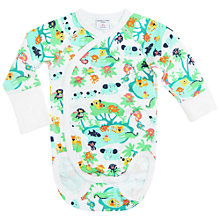 Buy Polarn O. Pyret Baby Jungle Bodysuit, Green Online at johnlewis.com
