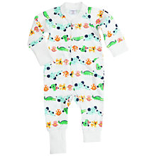 Buy Polarn O. Pyret Baby Animal Overall, White Online at johnlewis.com