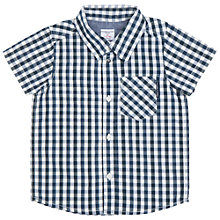 Buy Polarn O. Pyret Baby Check Shirt, Blue/White Online at johnlewis.com