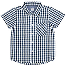 Buy Polarn O. Pyret Boys' Check Shirt, Blue/White Online at johnlewis.com