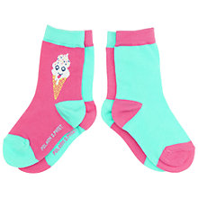 Buy Polarn O. Pyret Baby Lolly Socks, Pack of 2, Pink Online at johnlewis.com