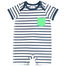 Buy Polarn O. Pyret Baby Stripe Romper, Blue Online at johnlewis.com