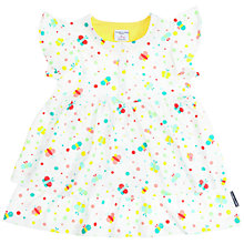 Buy Polarn O. Pyret Baby Ruffle Dress, White Online at johnlewis.com