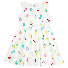 Buy Polarn O. Pyret Girls' Lolly Dress, White/Multi Online at johnlewis.com