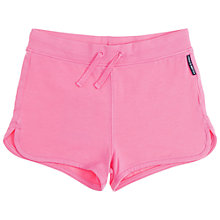 Buy Polarn O. Pyret Girls' Plain Shorts, Pink Online at johnlewis.com