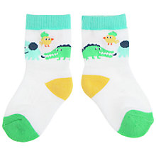 Buy Polarn O. Pyret Jungle Socks, Green Online at johnlewis.com