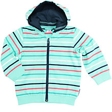 Buy Polarn O. Pyret Baby Striped Hoodie, Turquoise Online at johnlewis.com