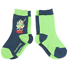 Buy Polarn O. Pyret Baby Lolly Socks, Pack of 2, Blue/Green Online at johnlewis.com