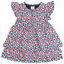 Buy Polarn O. Pyret Baby Ruffle Dress, Blue Online at johnlewis.com