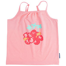 Buy Polarn O. Pyret Girls' Flower Palm Cami Top, Pink Online at johnlewis.com