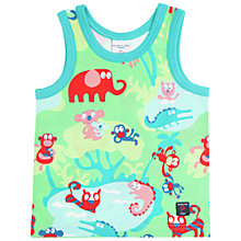 Buy Polarn O. Pyret Baby's Animal Vest, Green Online at johnlewis.com