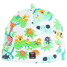 Buy Polarn O. Pyret Baby Jungle Beanie Hat, Green Online at johnlewis.com