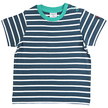 Buy Polarn O. Pyret Baby Striped T-Shirt, Blue Online at johnlewis.com