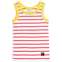 Buy Polarn O. Pyret Baby Striped Vest, Pink/Yellow Online at johnlewis.com