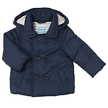 Buy John Lewis Baby Double Breasted Jacket, Navy Online at johnlewis.com