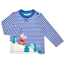 Buy John Lewis Baby's Sledge Mouse T-Shirt, Navy/White Online at johnlewis.com