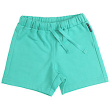 Buy Polarn O. Pyret Baby Sweat Shorts, Turquoise Online at johnlewis.com