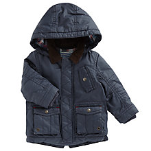 Buy John Lewis Baby Waxy Coat, Navy Online at johnlewis.com