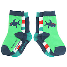 Buy Polarn O. Pyret Socks, Pack of 3, Blue Multi Online at johnlewis.com