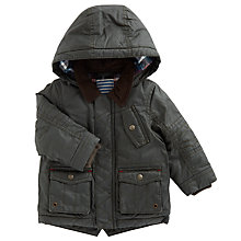 Buy John Lewis Baby's Waxy Coat, Green Online at johnlewis.com