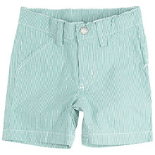 Buy Polarn O. Pyret Baby Chino Shorts, Green/White Online at johnlewis.com