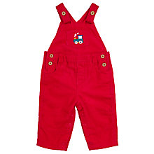 Buy John Lewis Baby's Train Cord Dungarees, Red Online at johnlewis.com