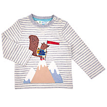Buy John Lewis Baby's Mountain Squirrel Long Sleeve T-Shirt, Grey Online at johnlewis.com