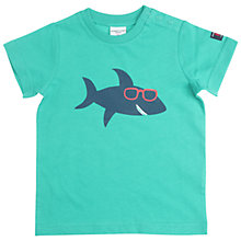 Buy Polarn O. Pyret Baby Shark T-Shirt, Green Online at johnlewis.com
