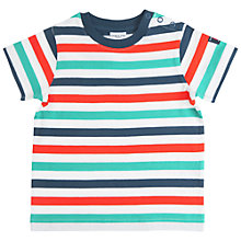 Buy Polarn O. Pyret Baby Striped T-Shirt, Multi Online at johnlewis.com