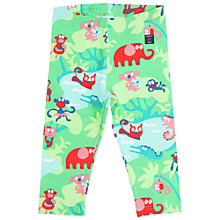 Buy Polarn O. Pyret Girls' Animal Print Leggings, Green/Multi Online at johnlewis.com