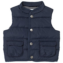 Buy John Lewis Baby Padded Gilet Sleeveless Jacket, Navy Online at johnlewis.com