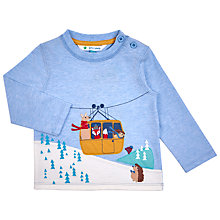 Buy John Lewis Baby's Cable Car Long Sleeve T-Shirt, Blue Online at johnlewis.com
