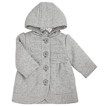 Buy John Lewis Baby's Tweedy Coat, Grey Online at johnlewis.com