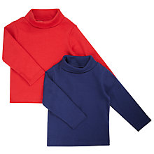 Buy John Lewis Baby's Long Sleeve Roll Neck T-Shirt, Pack of 2 Online at johnlewis.com