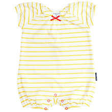 Buy Polarn O. Pyret Baby Striped Bodysuit, Yellow/White Online at johnlewis.com