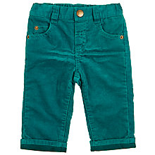 Buy John Lewis Baby's Cord Trousers, Green Online at johnlewis.com