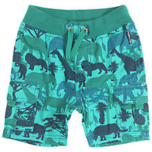 Buy Polarn O. Pyret Baby Safari Print Shorts, Turquoise Online at johnlewis.com
