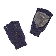 Buy John Lewis Flecked Knitted Gloves, Navy/Grey Online at johnlewis.com
