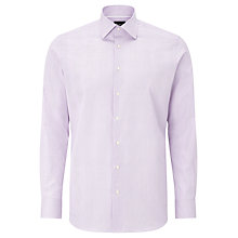 Buy Hackett London Prince of Wales Tailored Check Shirt, Lilac Online at johnlewis.com