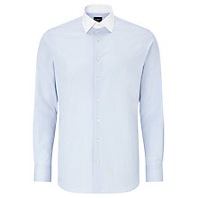Buy Hackett London End on End Tailored Shirt, Sky Blue Online at johnlewis.com