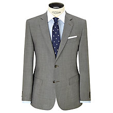 Buy Hackett London Super 120s Wool Prince of Wales Check Tailored Suit Jacket, Grey Online at johnlewis.com
