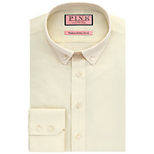 Buy Thomas Pink Goldsmith Texute Slim Fit Shirt, Yellow Online at johnlewis.com