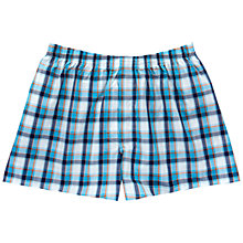 Buy Thomas Pink Middleton Check Boxers, Navy/Turquoise Online at johnlewis.com